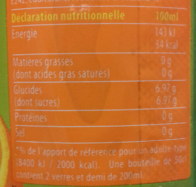 Amigo orange - Informations nutritionnelles - fr