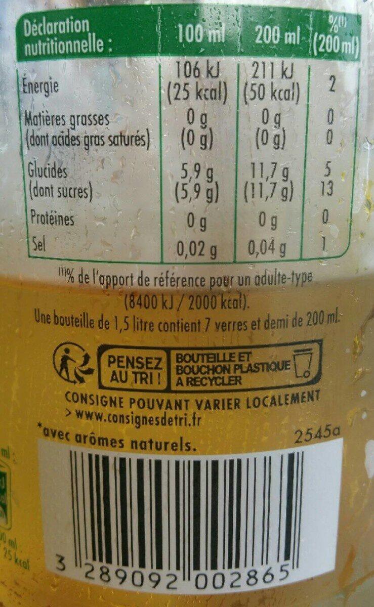 Boisson gazeuse - Informations nutritionnelles - fr