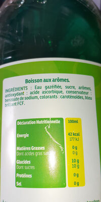 soda anis - Ingrédients - fr
