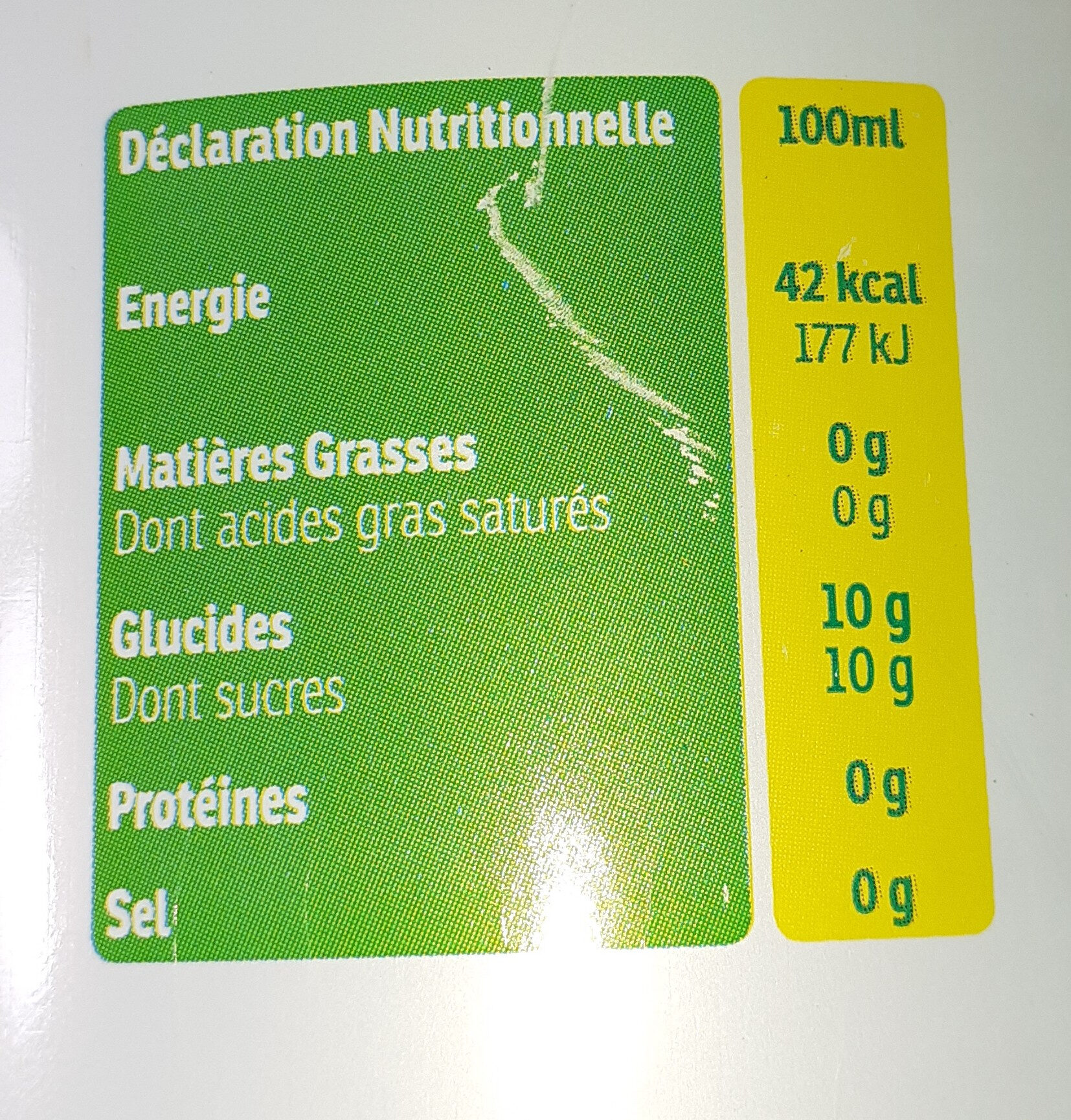 soda anis - Informations nutritionnelles - fr