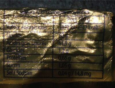 Beurre doux CHAMBEUR - Informations nutritionnelles - fr