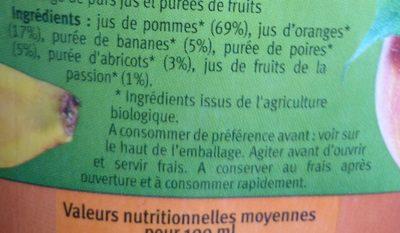 Le Verger Bio Multifruits - Ingrediënten