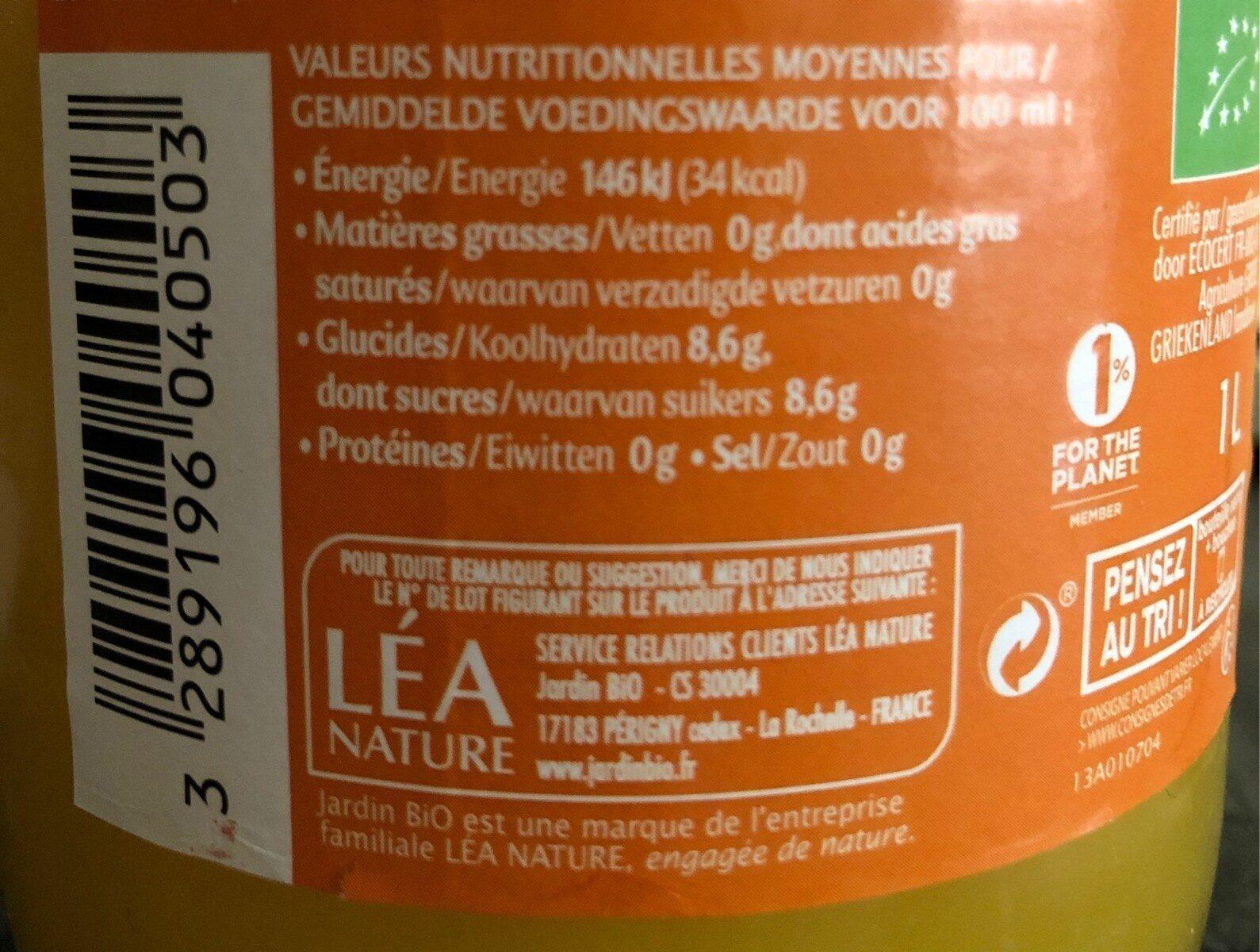 Pur Jus Orange - Voedingswaarden - fr