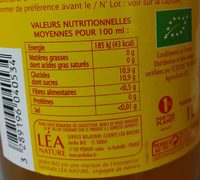 Pur jus de pomme trouble - Nutrition facts