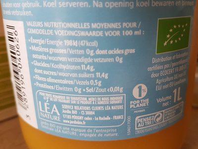 Matin Douceur 100% pur jus - Ingredients