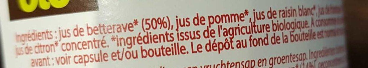 Jus betterave framboises - Ingrediënten - fr