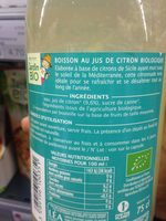 Citronnade - Ingrédients - fr