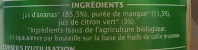Pur jus ananas mangue citron vert - Ingrédients - fr
