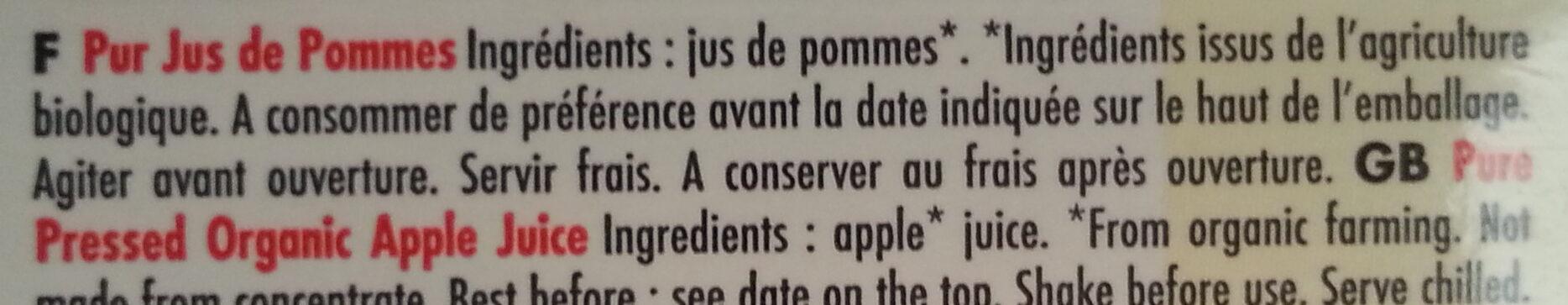 Pur Jus de Pomme - Ingrédients - fr