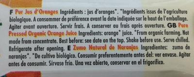Pur Jus d'Orange - Ingrédients - fr