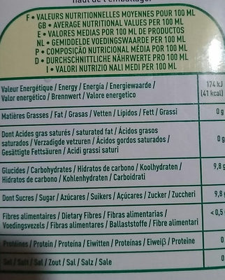 Cocktail multifruits - Informations nutritionnelles