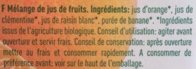 Matin douceur - Ingredients