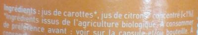 Jus de Carrotte - Ingrédients