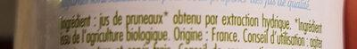 Jus de Pruneaux - Ingrédients - fr