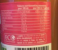 MINI PUR JUS PAMPLEMOUSSES ROSES - Ingrédients - fr