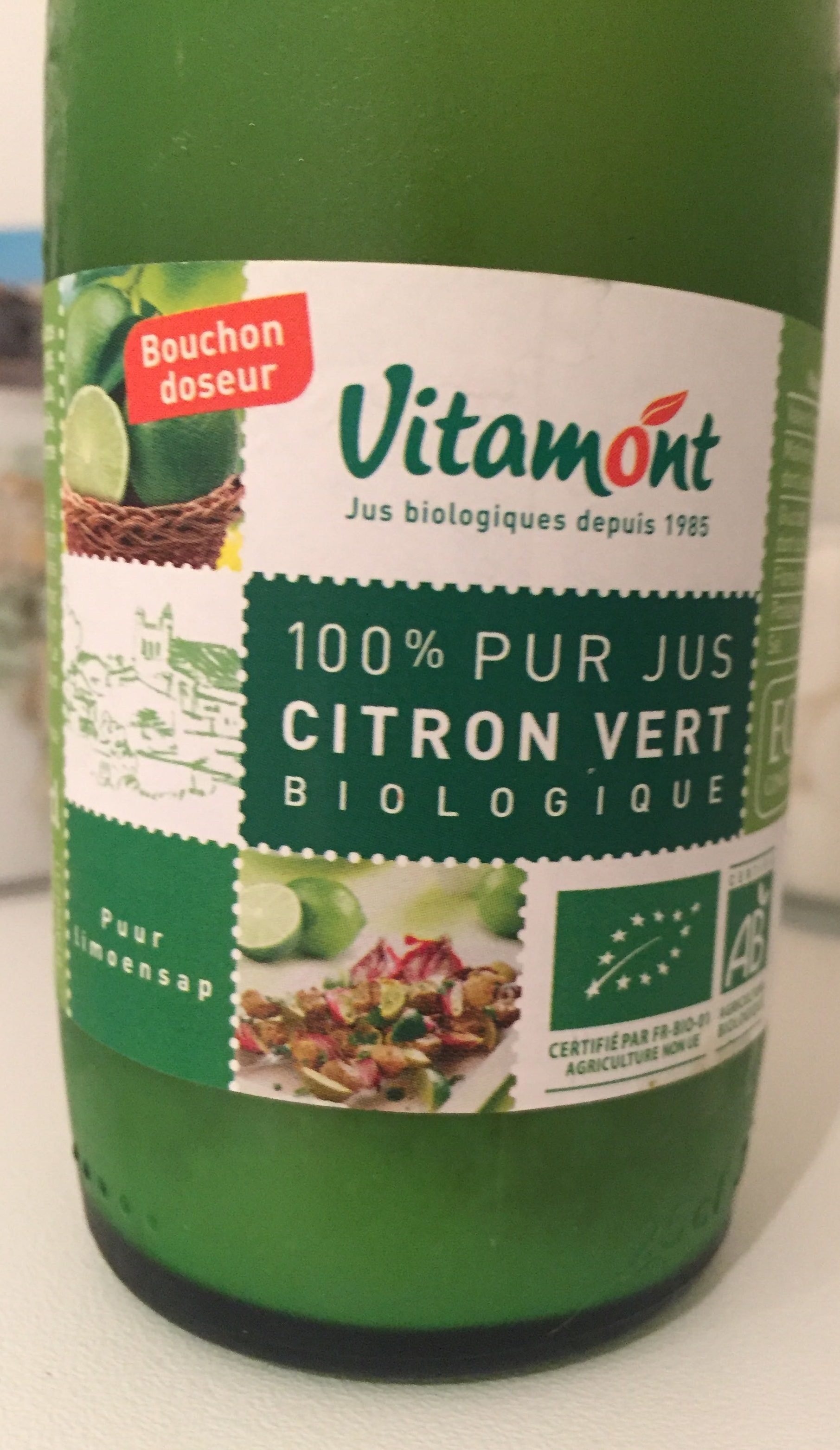 100% Pur Jus de Citron Vert Biologique - Produit
