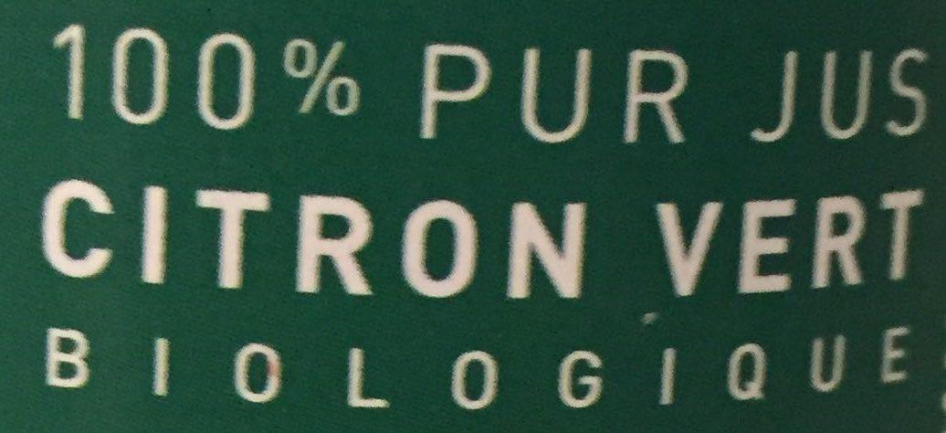 100% Pur Jus de Citron Vert Biologique - Ingrédients