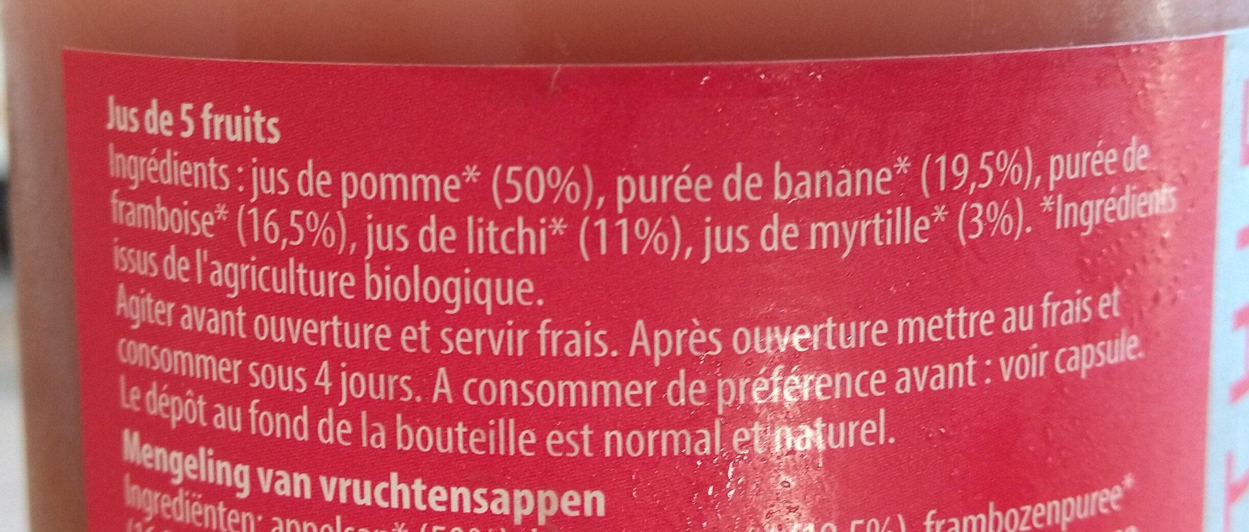 Smoothie framboise litchi - Ingredienti - fr