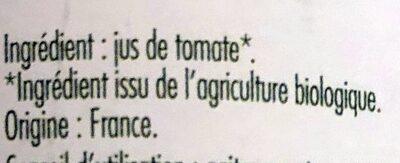 Pur Jus De Tomates - Ingredients