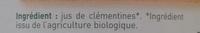 Jus de clémentine - Ingrédients - fr