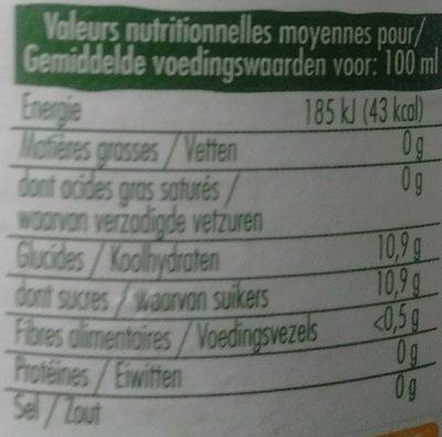 jus de pomme - Nutrition facts - fr