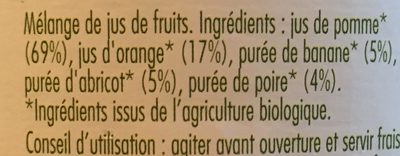 Pur jus 5 fruits bio - Ingredienti - fr