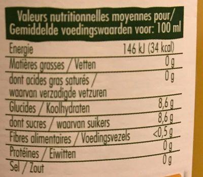 Pur jus Orange douce - Voedingswaarden