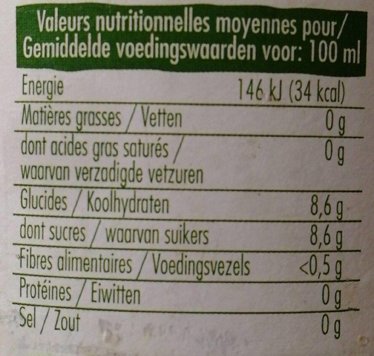 Pur jus d'orange de Grèce bio - Valori nutrizionali - fr