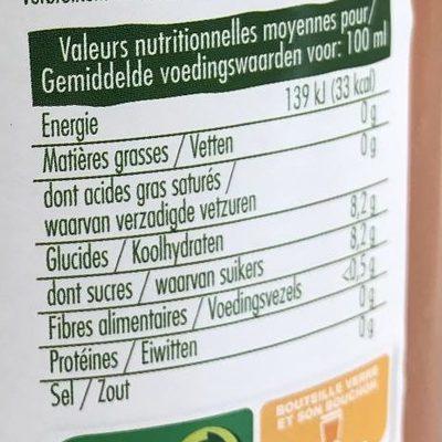 100% pur jus pamplemousses roses bio - Informations nutritionnelles