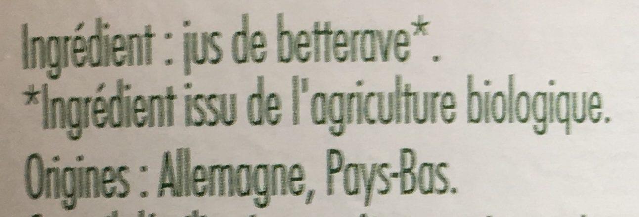 Pur Jus De Betterave Lactofermente 75CL Vit Bio - Ingrédients - fr