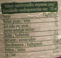 Jus de légume - Informations nutritionnelles - fr