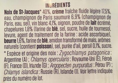 Coquilles St Jacques cuisinees a la Bretonne - Ingredients