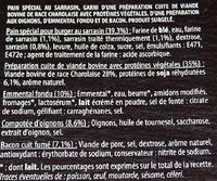 BZH Burger steak haché baçon - Ingrédients - fr