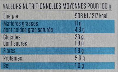 Tourte aux Noix de Saint Jacques - Información nutricional