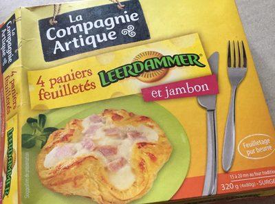 LA COMPAGNIE ARTIQUE PANIERS FEUILLETES LEERDAMMER ET JAMBON 4X80G - Produit