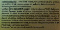 LA COMPAGNIE ARTIQUE PANIERS FEUILLETES LEERDAMMER ET JAMBON 4X80G - Ingrédients