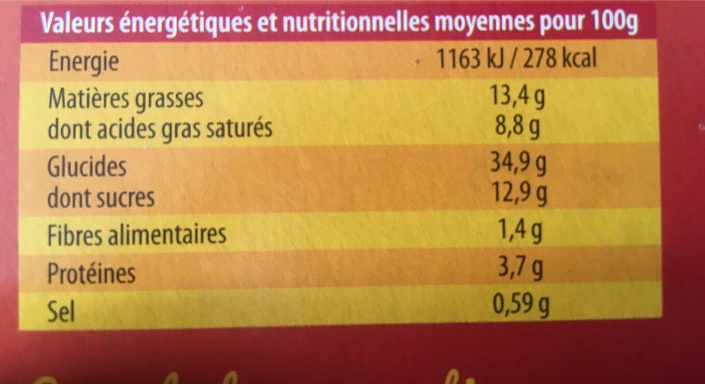 Artiq. feuillete Pom. creme4x80g - Informations nutritionnelles