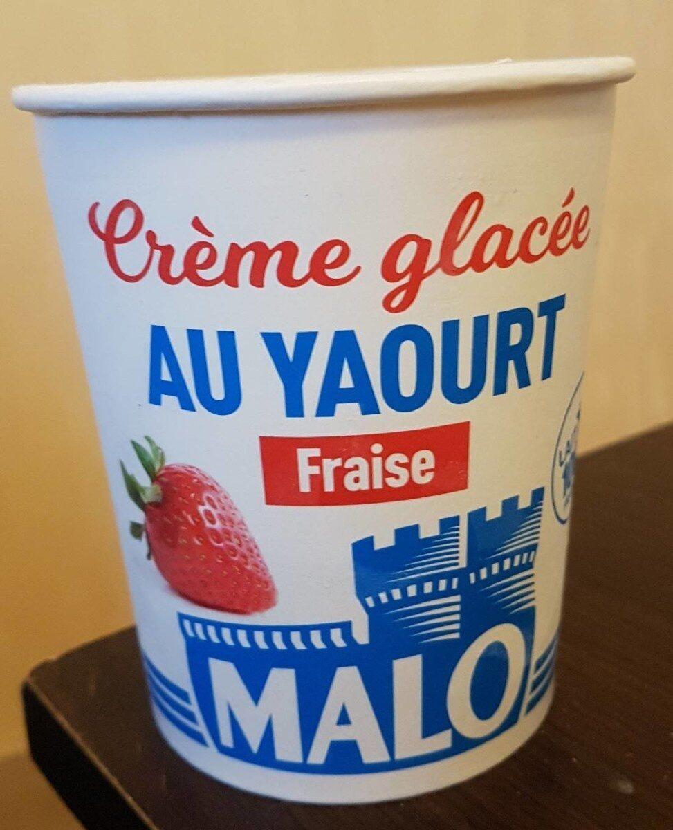 Crème glacée au yaourt a la fraise - Product - fr