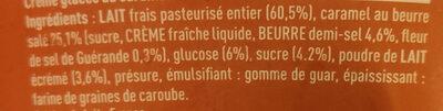 Crème glacée caramel beurre salé - Ingrédients - fr