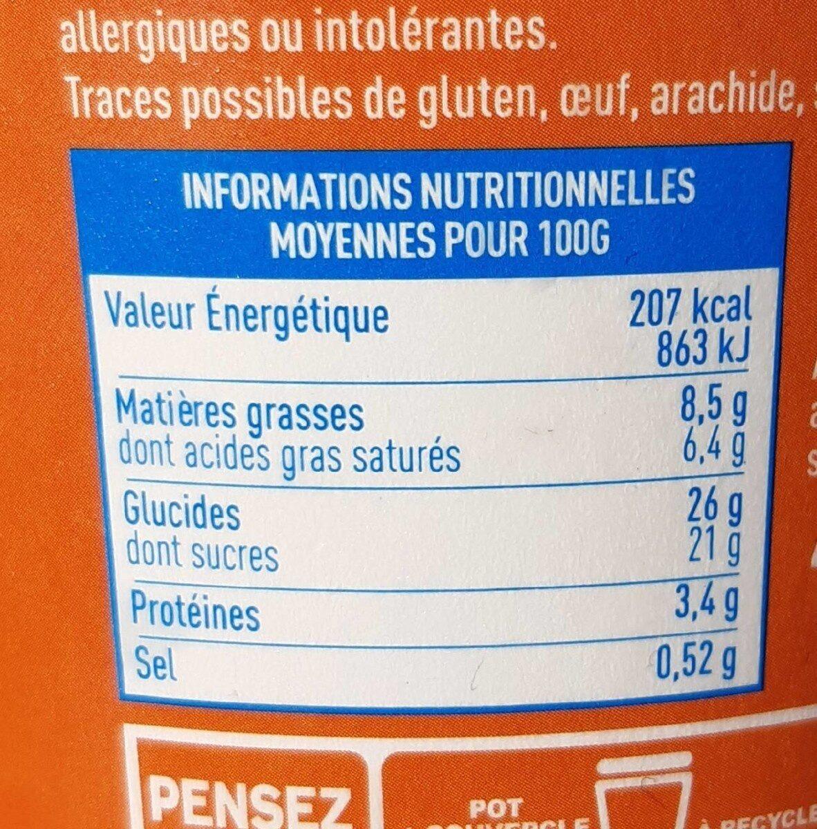 Crème glacée caramel beurre salé - Informations nutritionnelles - fr