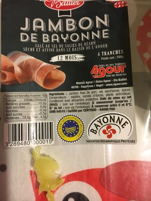 Jambon de Bayonne - Produit - fr