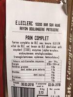 Pain Complet - Ingrediënten