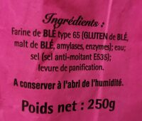 Baguette de tradition francaise - Valori nutrizionali - fr