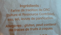 Baguette Tradition - Ingredients