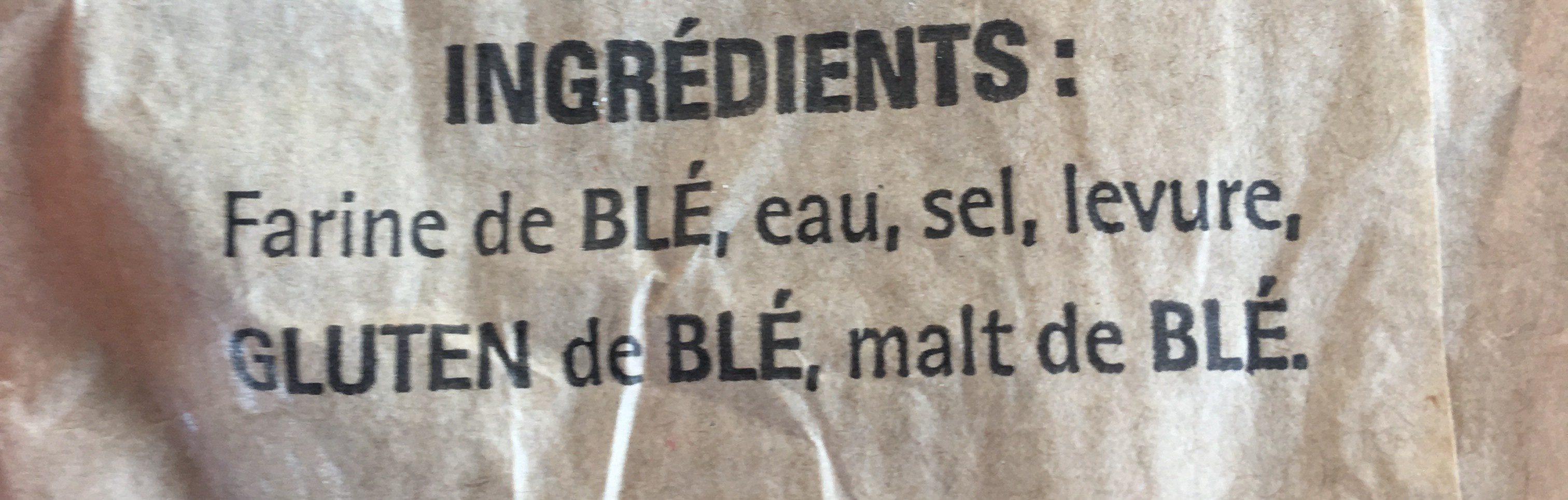 Baguette de tradition Française - Ingredienti - fr