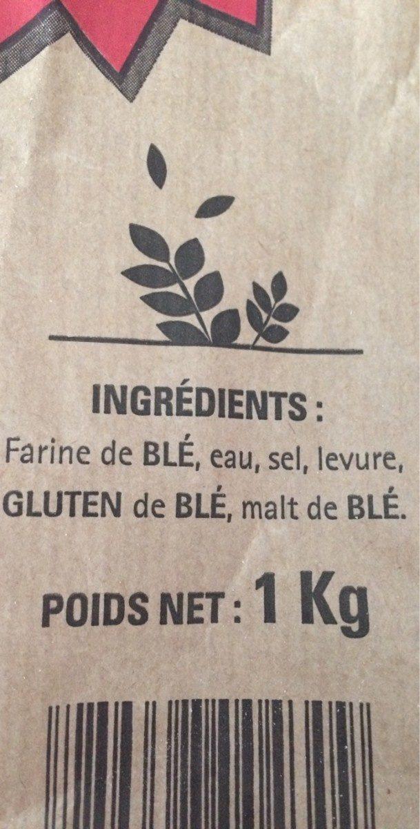 Baguettes  de tradition française - Ingredienti - en