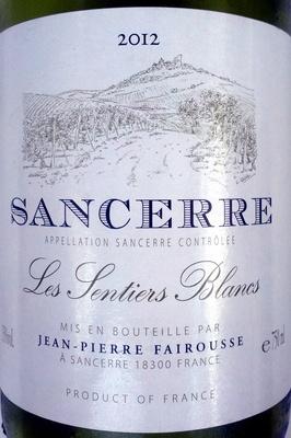 Sancerre Les Sentiers Blancs 2012 - Product