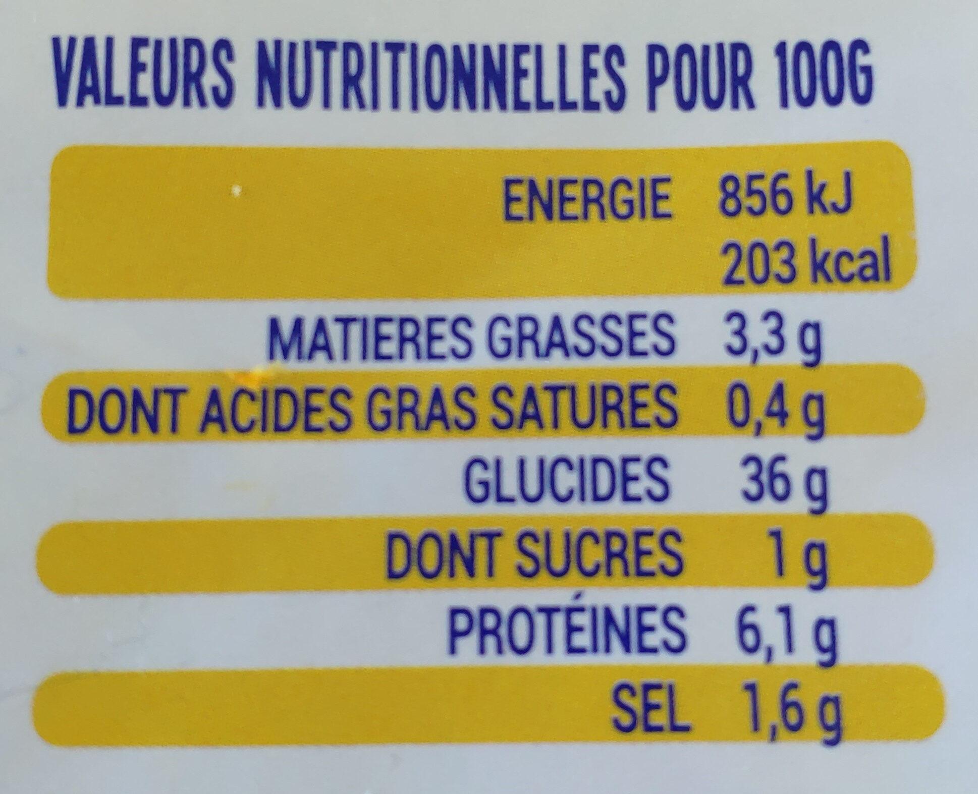 6 Galettes de ble noir fraiches CATEL ROC - Informations nutritionnelles - fr