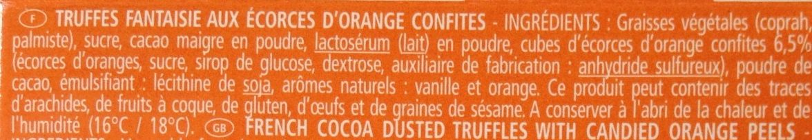Truffes fantaisie - Ingrediënten