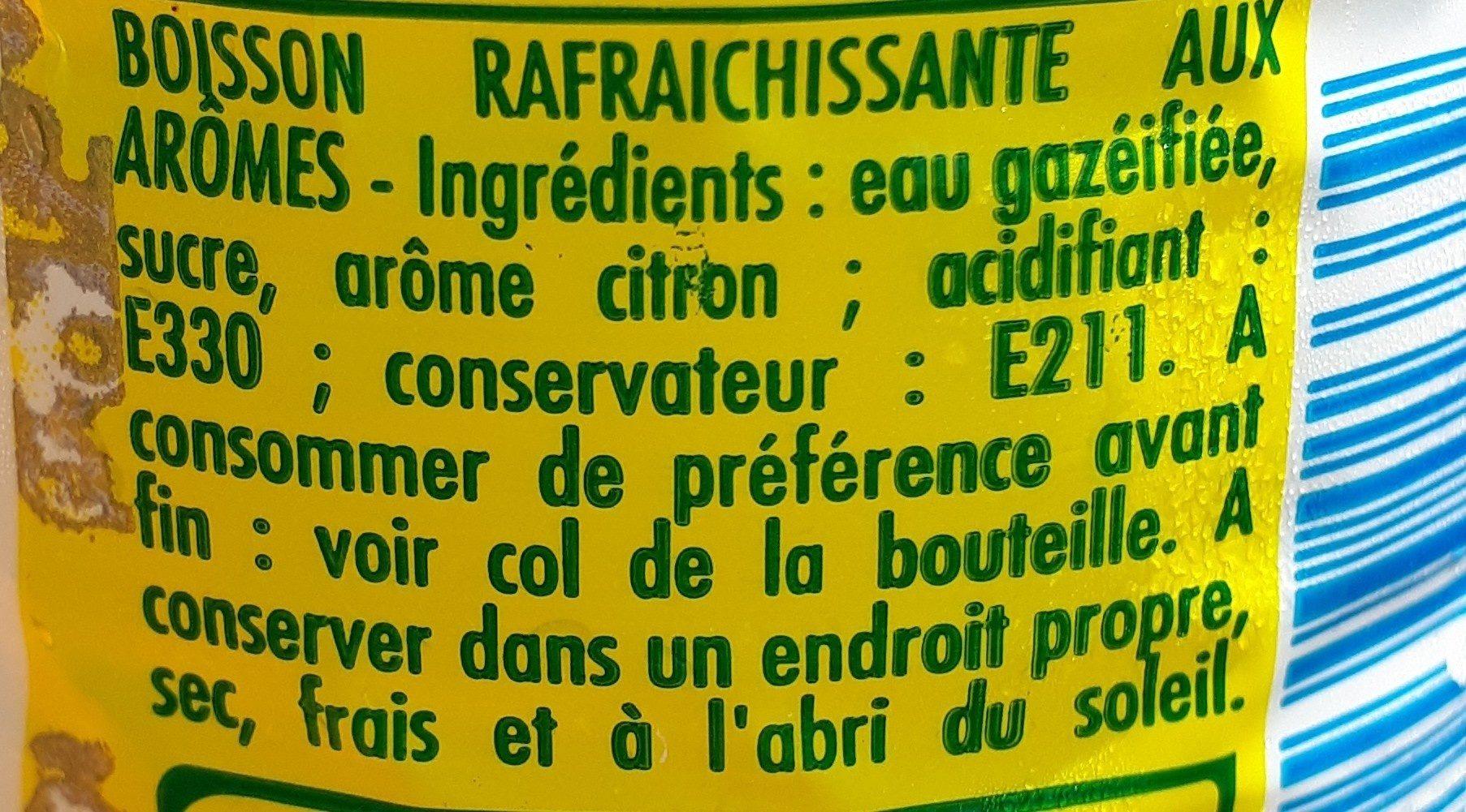 Cot Citron - Ingrédients